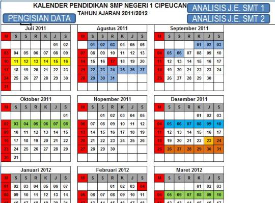 Sheet Kalender Pendidikan