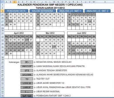 Kalender Pendidikan Hitam Putih